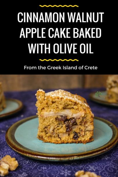 Cinnamon Walnut Apple Olive Oil Cake