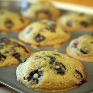 Mediterranean Diet Recipes: Gluten Free Blueberry Muffins