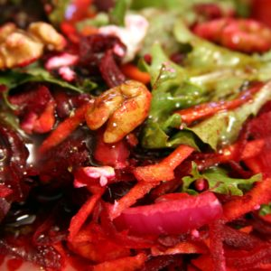 Carrot and Beet Salad with Toasted Walnuts
