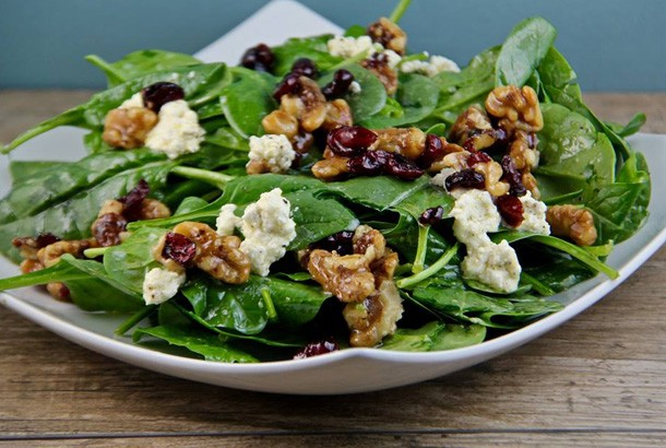 Honey Walnut Salad with Feta and Raisins