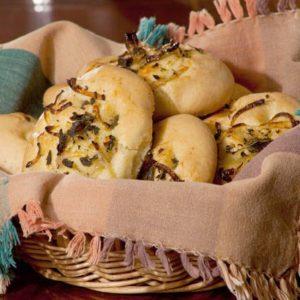 Mediterranean Diet Recipes: Onion and Sage Focaccia Rolls