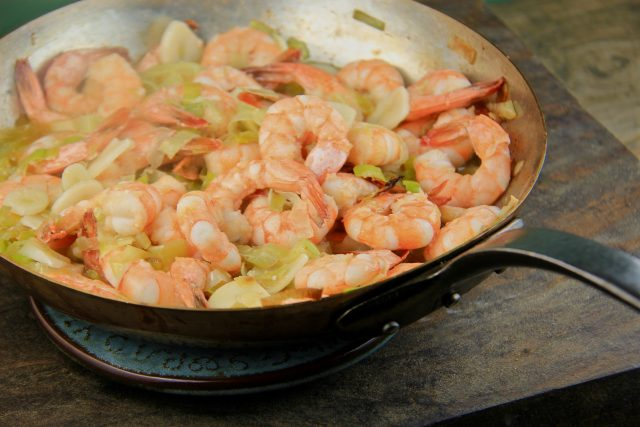 Sizzling Lemon Garlic Shrimp