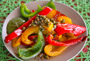 Mediterranean Diet Recipes: Red Peppers with Capers