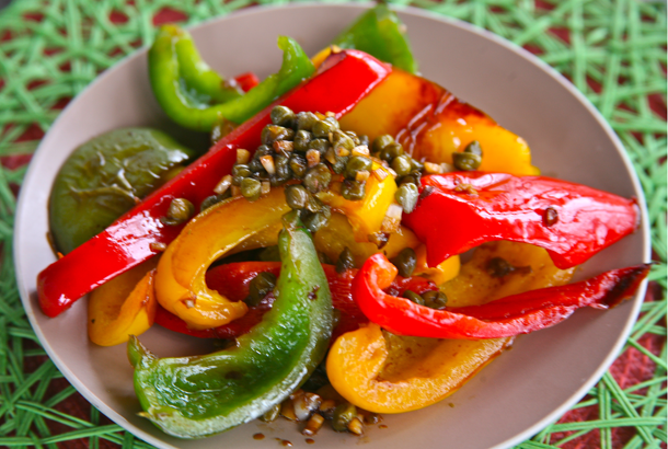 Sautéed Tri-Color Peppers with Capers
