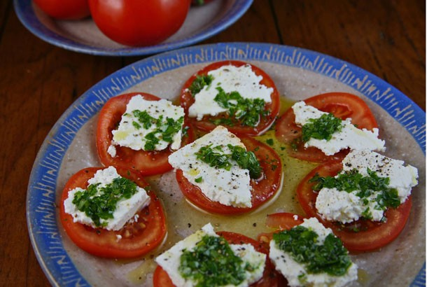 Tomatoes and Feta for Mediterranean Diet