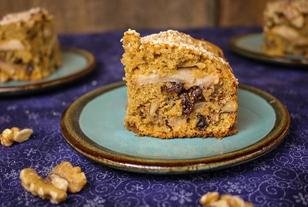 Cinnamon Walnut Apple Cake Baked with Olive Oil (Greek Island of Crete)