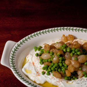 Creamed Pearl Onions & Peas