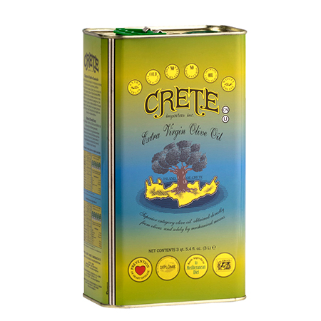 Crete Olive Oil Extra Virgin 3 Liter Tin