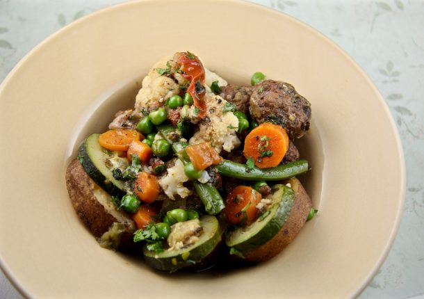 Spiced Moroccan Meatballs with Veggies