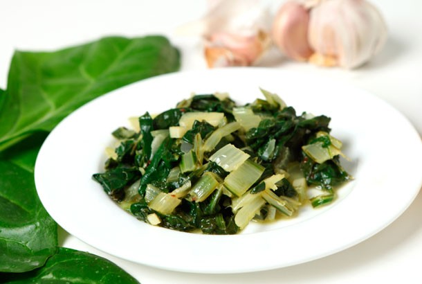 Sauteed Swiss Chard with Garlic - Mediterranean Living