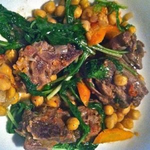 Lamb Stew With Spinach & Garbanzos