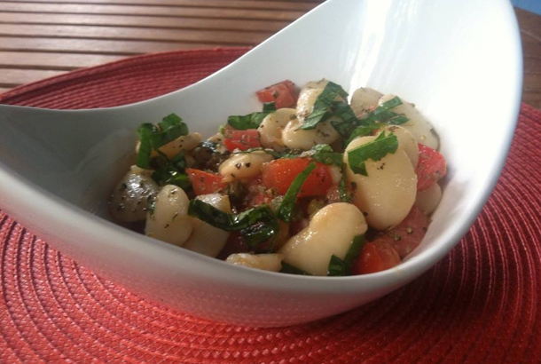 Lima Bean and Tomato Salad