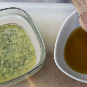 Dill Butter and Olive Oil (grilling blend)