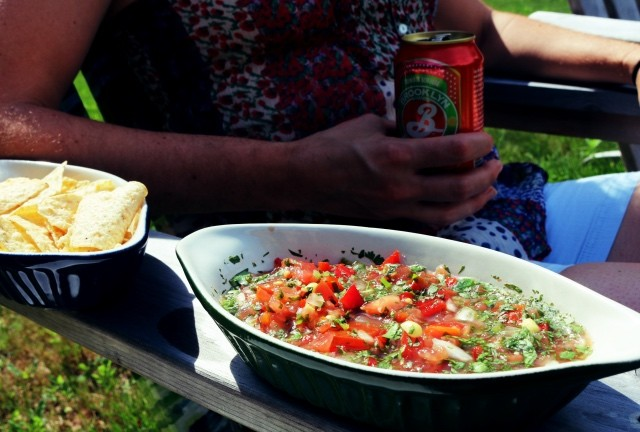 Cilantro Salsa with Jalapeño and Lime (Mediterranean Diet Recipe)