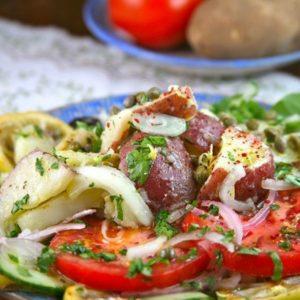 Mediterranean Greek Potato Salad
