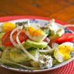 Mediterranean Diet: Potato and Egg Salad with Olives and Feta