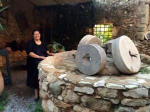 Koula and the olive press