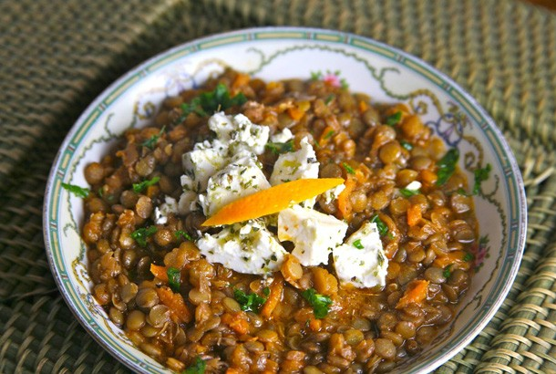 Mediterranean Diet Recipes: Lentil Soup