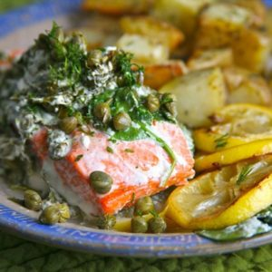 Mediterranean Diet Recipes: Salmon with Capers