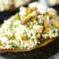 Mediterranean Diet: Acorn Squash stuffed with Quinoa, Feta and Pistachio