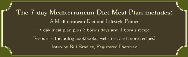 mediterranean diet meal plan includes