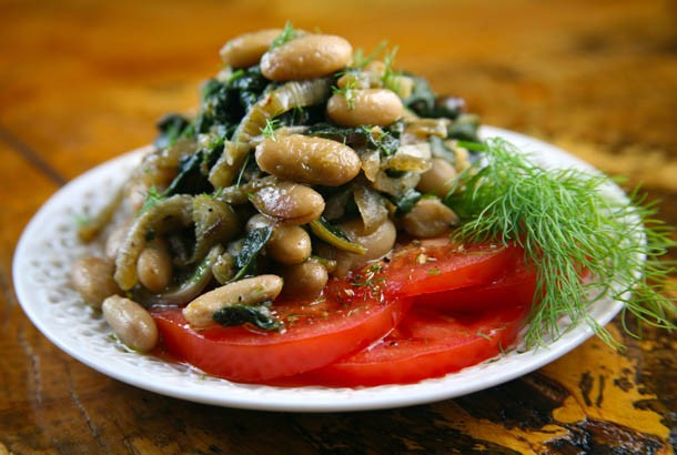 Mediterranean Diet Recipes: Beans and Greens