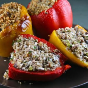 Quinoa and Turkey Stuffed Peppers