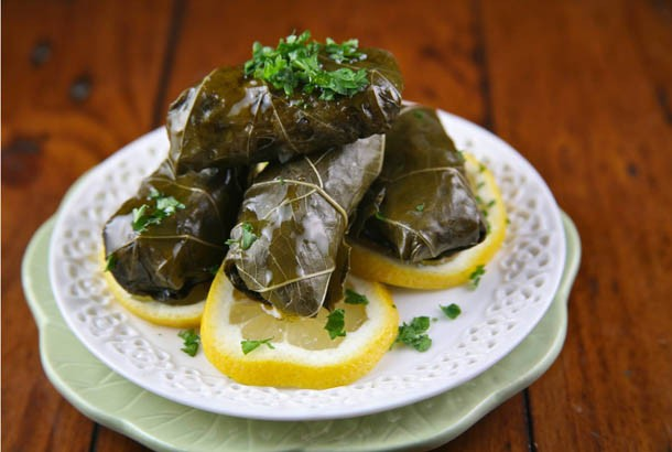 Greek Stuffed Grape Leaves Recipe And How To Video Mediterranean Living