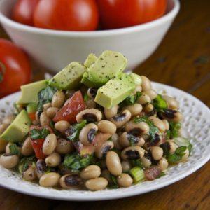 Mediterranean Diet Recipes: Black Eyed Bean and Avocado Salad