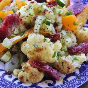 Mediterranean Diet Recipes: Cauliflower with Blood Oranges