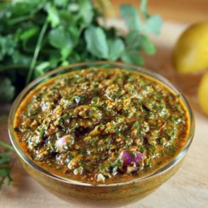 Chermoula: Moroccan Cilantro Sauce