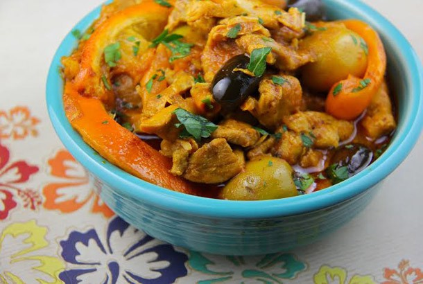 Chicken, Oranges and Mixed Olives Tagine