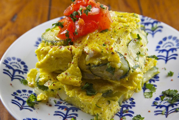 Mediterranean Diet Recipes: Zucchini Omelet