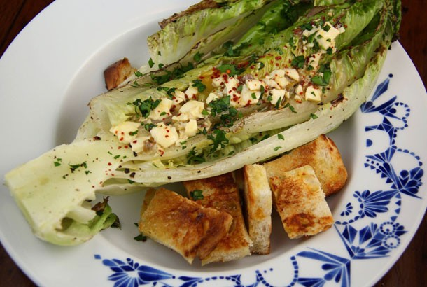 Grilled Caesar Salad Mediterranean Diet Recipe
