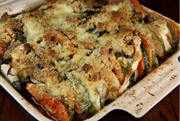 Zucchini Tomato Gratin: Mediterranean Diet Recipe
