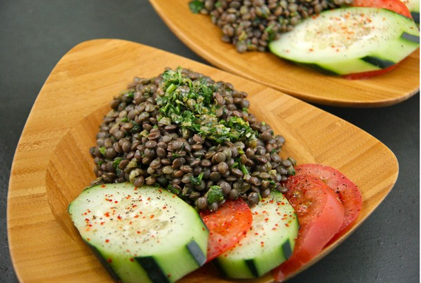 Lentils With Salsa Verde