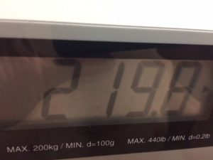 1st weigh in