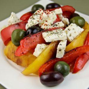 salad with feta Mediterranean diet recipes Mediterranean salads
