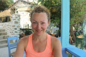 Christine at the Ikarian Restaurant