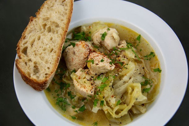 Chicken Leek Soup with White Wine (Island of Crete-Greece)