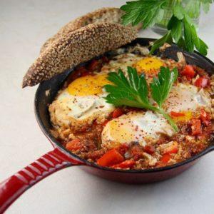 Shakshuka (Stewed Eggs and Tomatoes - Morocco)