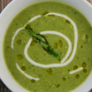 Asparagus and Green Peas Soup (Island of Crete)