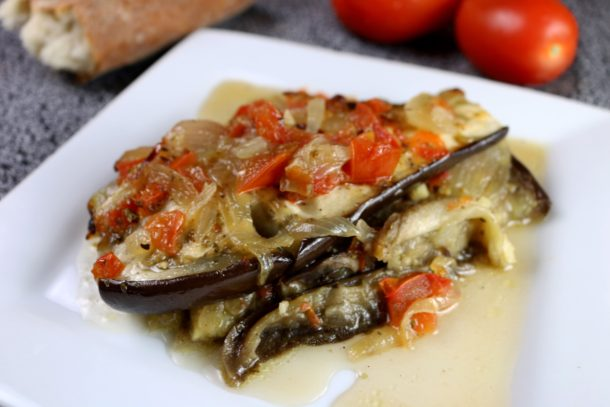 Mediterranean Diet: Baked Eggplant and Caramelized Onions (Central Greece)