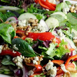 Mediterranean Diet Recipes: Apple Walnut Gorgonzola Salad