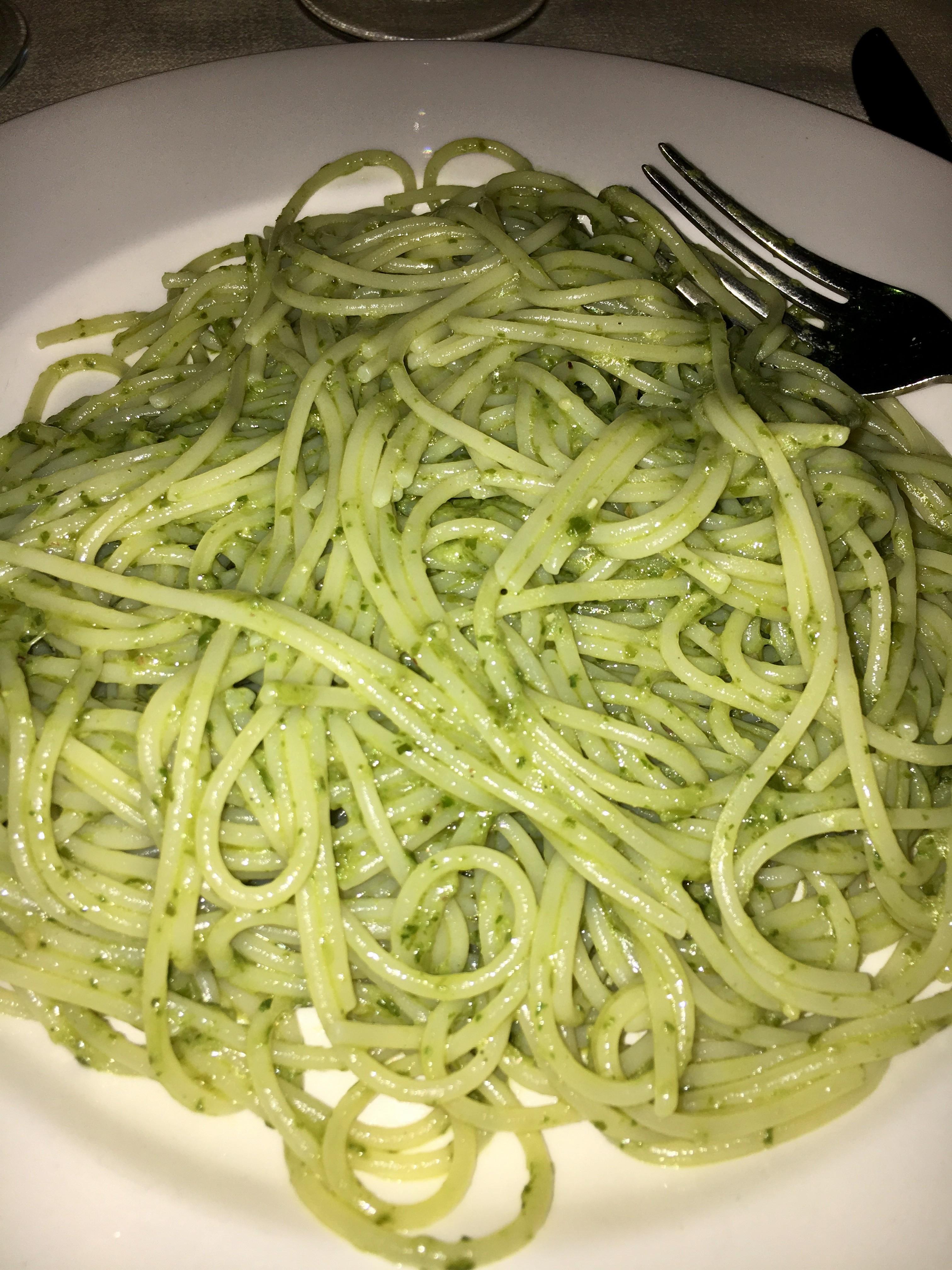 Mediterranean Diet: Gluten Free pesto pasta in Italy