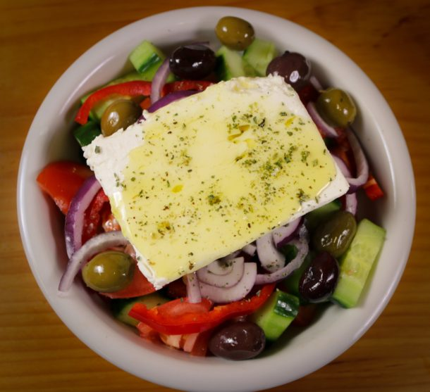Mediterranean Diet: Authentic Greek Salad (Horiatiki)