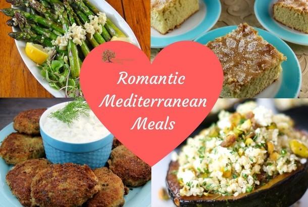 Romantic mediterranean meals