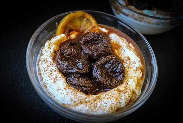 Mediterranean Diet Recipe: Stewed Prunes with Greek Yogurt and Cinnamon