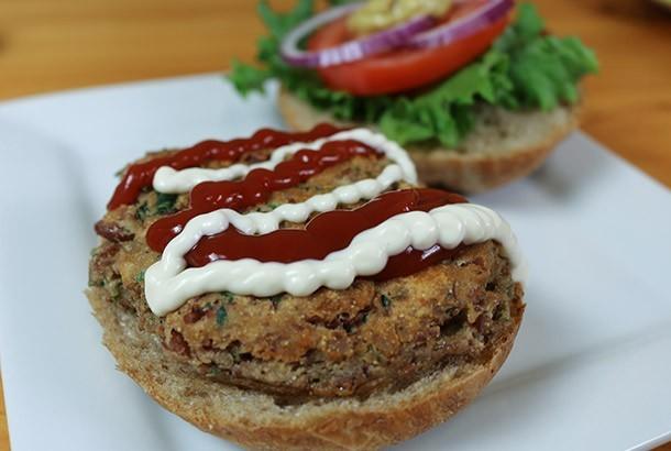Bean Burgers with Garlic and Sage (Vegetarian, Gluten Free)