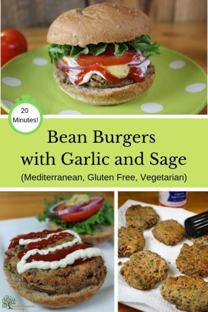 Bean Burger Recipe with Garlic and Sage